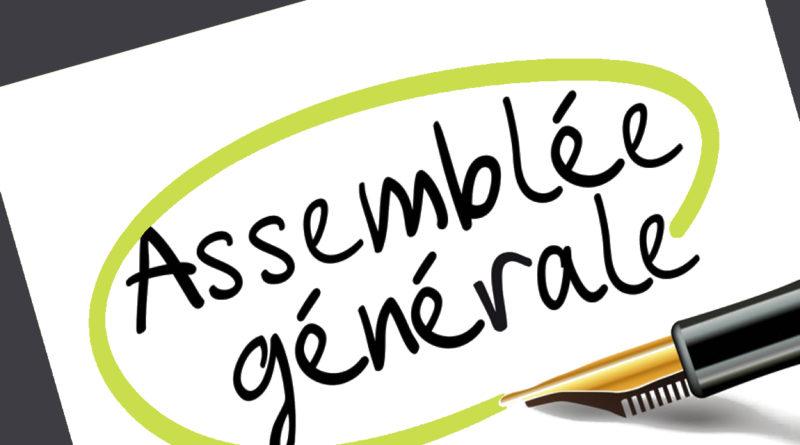 Assemblée Générale le vendredi 15 octobre 2021